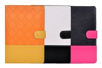 Fashion Lattice PU Leather cases for iPad Mini High quality colorful TPU cover for ipad mini wholesales