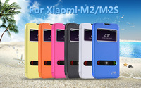 Flip Leather Case For Xiaomi M2/M2S, Smart window with holder,free shipping