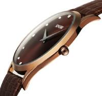 2014 New Fashion Classic Sinobi Leather Strap Mens Womens luxury Style Quartz Military Slim Wrist Watch freeshipping