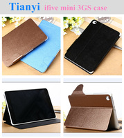 Free shipping Leather case for FNF Ifive Mini 3GS Octa Core 7.85 inch Tablet PC Stand Protetive Cover with sleep fuction