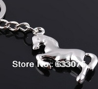 (Min.order $10)2013,Horse LOGO Keychain Creative Promotional Products Zinc Alloy Keychains Key Ring Souvenir Gifts For Christmas