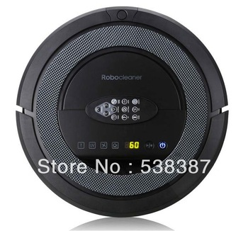 (Free to Russia) 5 In 1 Multifunctional Robot Vacuum Cleaner, LCD Screen,Touch Button,Schedule Work,Virtual Wall,Auto Charging