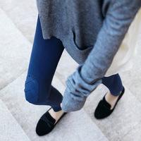 Freeshipping winter legging korean plus cotton thick velvet knee patches kitten embroidery women leggings