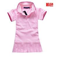 Free Shipping Summer 2013 100%cotton Retail wholesale Infant/Baby Girls Brand Polo Dress Children/Kids Princess tennis Dresses