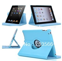 360 Rotating Magnetic Leather Case for iPad 2 and iPad 3 New iPad Free Shipping