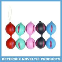 Free Shipping Wholesale Love Ball, Sex Ball, Sex Toys Non toxic ABS+silicone-Blue