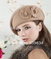 Free shipping Fashion new 2014 autumn-summer  100% wool female caps European style, wool beret beanies caps for women girls 564