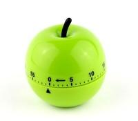 Fashion 60 Minutes Timer Green Apples Design Cooking Timer Mechanical Alarm Kitchen Timer