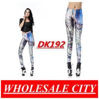 Wholesale Autumn Women leggings Ghosts and Monsters Naked Printed Leggings Super Elastic Fitness Pencil Pants DK192