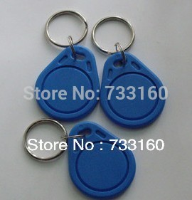 C-2 Wholesale Blue Waterproof 125Khz RFID Proximity ID Token Tag Key Keyfob Card for Access Control System(China (Mainland))