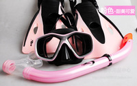 Children floating semi- submersible two-piece mask goggles + snorkel silicone odor genuine package tour