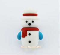 UFD0387 wholesale freeshipping Hotsale Cute Snowman S1 Hand Gift USB Flash Drive Christmas Gift USB Flash Disk drive  4GB-32GB