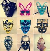 Free Shipping new 2014 skull mask clown halloween fox scary masks mardi gras terror horror carnival mask christmas