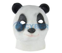 Cheap 3Pcs/Lot Creepy Panda Animal Mask Head Latex Rubber Halloween Mask Costume Theater Adult TK1174