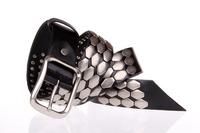 New 2014 Genuine Leather Vintage Punk Mens Belt Cowhide Retro Rivet Stud Belts For Men Designer Brand Casual Accessories TBT0091