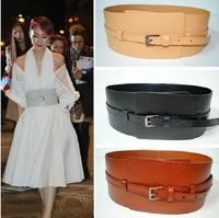 New 2014 Vintage Genuine Leather Cowhide Movable Corset Belt Woman Wide Belts & Cummerbunds For Women Accessories Cinto BTW0003