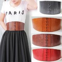 New 2014 Vintage Genuine Leather Cowhide Corset Belt Woman Wide Elastic Belts & Cummerbunds For Women Accessories Cinto BTW0001