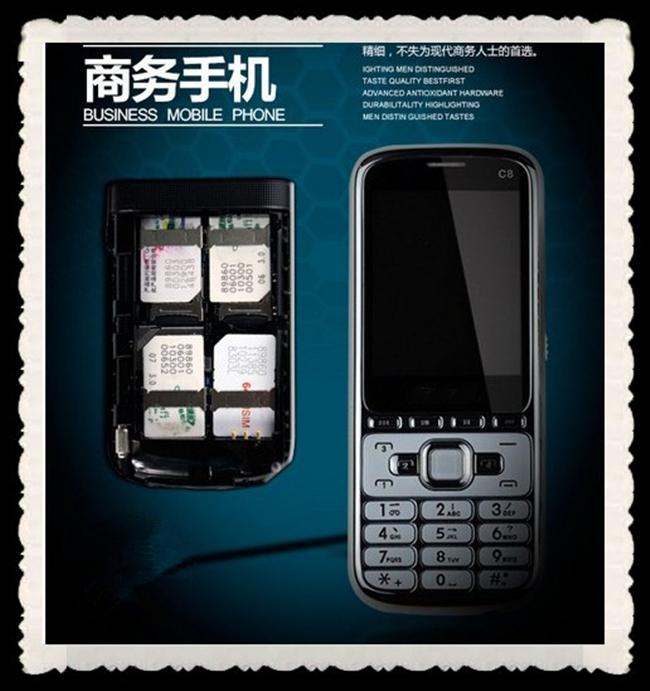 2013 tv telefono cellulare c8 2.2'' mtk5118 1.3m fotocamera 4 card 4 in standby sbloccato telefono cellulare spedizione gratuita