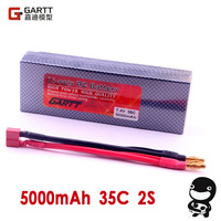 Freeshipping  7.4 V 35C 5000mAH 2S Lipo Li-Po Lipoly Battery  for RC Car & Boat