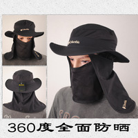 Quality outdoor bucket hat male summer cap sun hat jungle hat round edge off-road cap