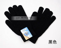 Solid color wool yarn male gloves winter paragraph men's thermal gloves st016