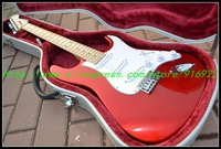 Wholesale - Special Sales Newest Red burst Very Beauty ST Electric Guitar Maple Fingerboard From China Free shipping