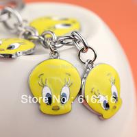 Z236b Cute Tweety Bird Charms Keychain Key Ring