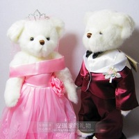 Teddy bear 2pcs Plush toys for kids and grownups Boyds lovers doll married bear doll wedding bear gift