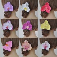 Free shipping 3pcs Wedding Bridal Large Orchid Flower Hair Pins Sweet Party Hair clip Accessories Headwear