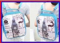 2014 Student Casual Shoulders Bag Preppy Style School bag Fashion Cute Print  Handbag PU Bags Female Handbag