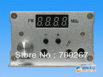 2pcs FM PLL LCD stereo transmitter Radio Station DC 9-15V 7w NEW free shipping