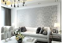 Papel de parede roll Sliver Netherland Victorian Damask/Embossed Wallpaper High Quality  tapete