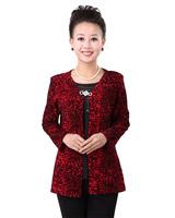 2013 Quinquagenarian Top Middle-age Blouses Women Faux Two Piece Shirt
