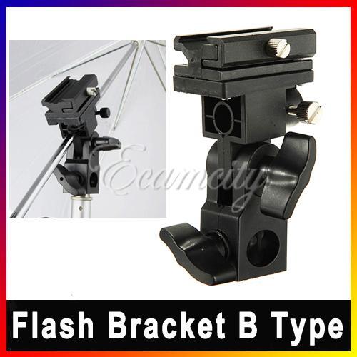 Free Shipping New B Type Universal Mount Flash Hot Shoe Adapter Trigger Umbrella Holder Swivel Light Stand Bracket Wholesale(China (Mainland))