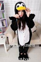 Black penguin Soft Nightwear  Animal  Sleepsuit Onesie Sleepwear Cosplay Costumes Unisex unisex pyjamas by0040 pig S M L XL