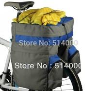 Bicycle Rear Seat Trunk Bag Handbag Pannier Black 60L 14590 Freeshipping