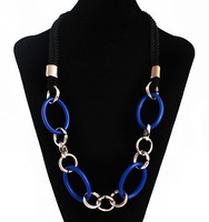 free shipping 2013 jewelry wholesale new fashion women sweater necklace resin with the rope chain
