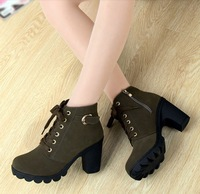 Free shipping boots for women 2013  spring and autumn high thick heel martin boots ankle boots platform boots women shoes