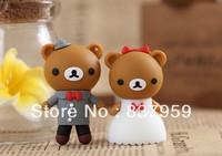 Cartoon Lovers Bear USB 2.0 Flash Memory Stick Drive Thumb/Car/Pen Gift free ship