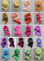 Free shipping DIY Ronde Flowers Nylon Mesh Flower Stocking - double color - 400pcs/lot LFA0005
