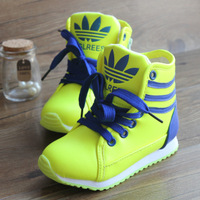 2013 child sport shoes male shoes girls boots leather sports shoes ball boots casual skateboarding shoes