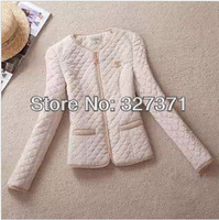 2013 Spring and Autumn New Women's Coat Temperament Stitching Fashion Slim Warm Coat Free Shipping
