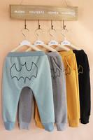 5 Pcs Lot 2014 New Fashion The Winter Kids Girl Boy Child Baby Sports Casual Cartoom Bird Bat Thick Velvet Warm PP Harem Pant