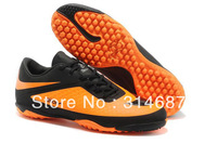 New Arrival Free Shipping 2013 HyperVenom Phantom TF Men's Soccer Shoes Cleats Boots - Black/Citrus 5 Colors For Christmas Gifts
