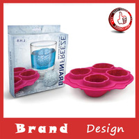2014 Ice Freeze Cube Silicone Tray Maker Mold Tool Brain Shape Bar Party Drink New 15.5*15*3.5cm Free shipping