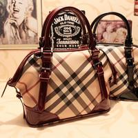 new 2013 famous brand designer high quality vintage plaid women leather handbag elegant totes mochila shoulder bag ladies bolsas