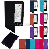 Hot  New Fashion Ultra Slim PU Leather Smart Case Cover for Amazon Kindle Paper white 7 Color to Choose
