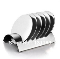 Stainless steel skid mounted bowls mat coasters seven set insulation pad European creative tableware household goods