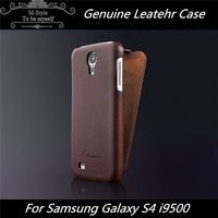 Free shipping Luxury Retro Style Genuine Litchi Leather case cover for Samsung Galaxy S4 i9500,flip leather case for s4