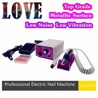 Professional!!110V/220V Electric Nail Art  Machine Manicure Pedicure Nail Pen Set Kit + 6 Drill Bits + Top Grade + Foot Pedal